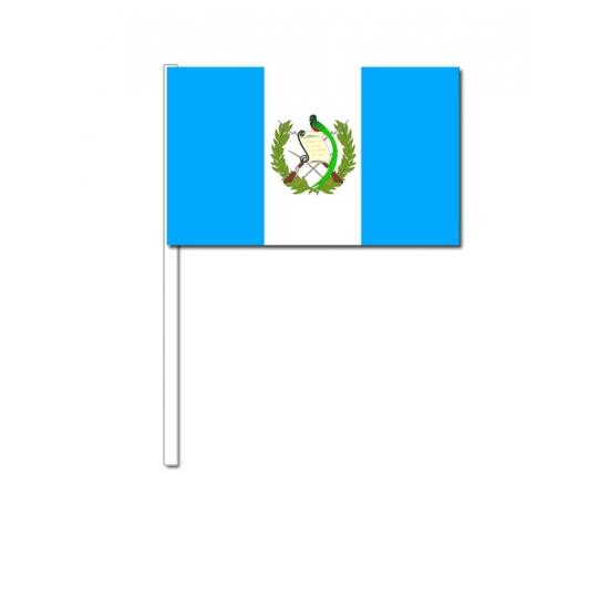 Papieren zwaaivlaggetjes Guatemala 12 x 24 cm