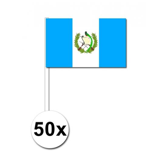 Papieren zwaaivlaggetjes Guatemala 50x