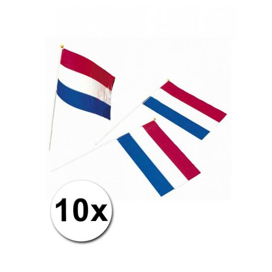 Papieren zwaaivlaggetjes Holland 10x