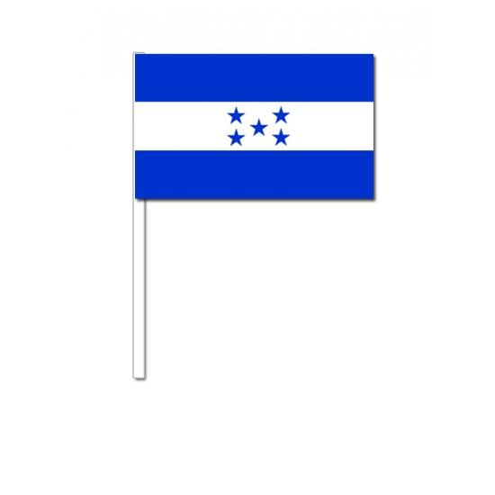 Papieren zwaaivlaggetjes Honduras 12 x 24 cm