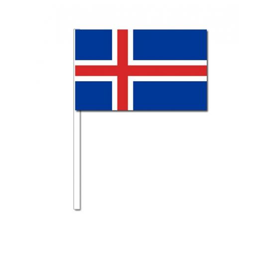Image of Papieren zwaaivlaggetjes IJsland 12 x 24 cm