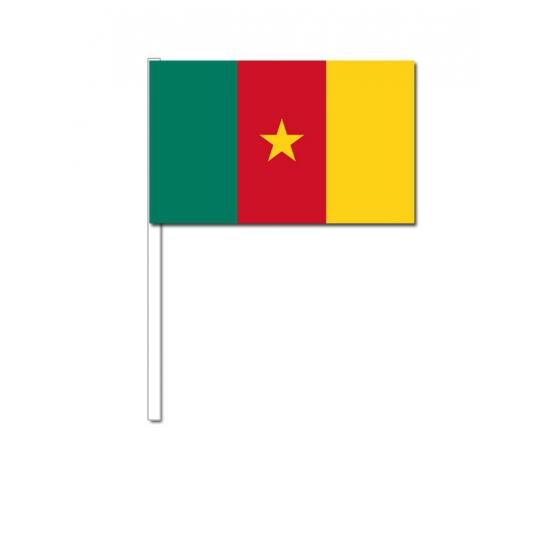 Papieren zwaaivlaggetjes Kameroen 12 x 24 cm