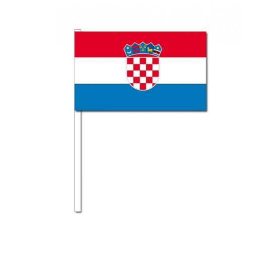 Image of Papieren zwaaivlaggetjes Kroatie 12 x 24 cm