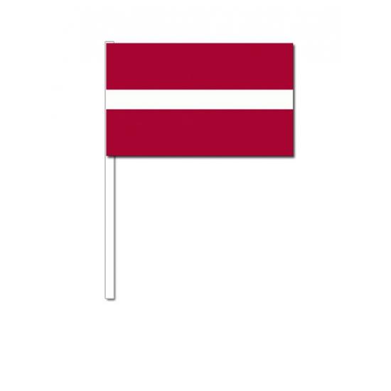 Papieren zwaaivlaggetjes Letland 12 x 24 cm