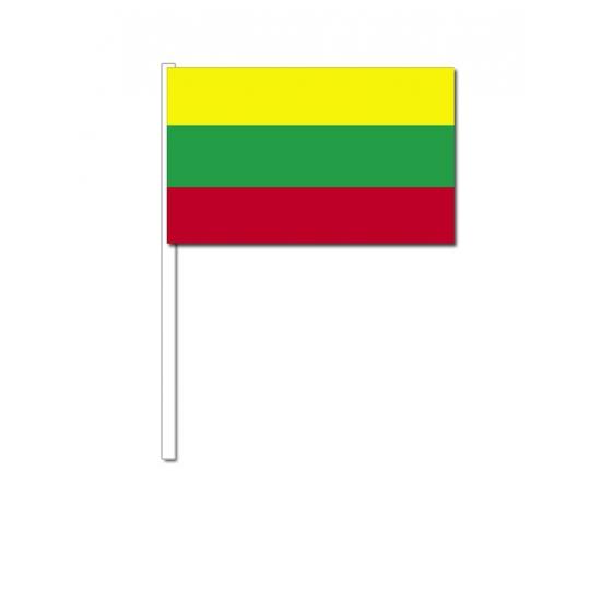 Papieren zwaaivlaggetjes Litouwen 12 x 24 cm