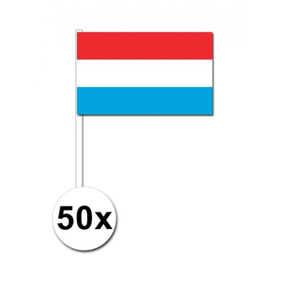 Papieren zwaaivlaggetjes Luxemburg 50x