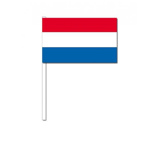 Papieren zwaaivlaggetjes Nederland 12 x 24 cm