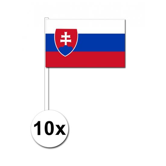 Papieren zwaaivlaggetjes Slowakije 10x