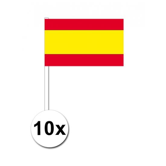 Image of Papieren zwaaivlaggetjes Spanje 10x