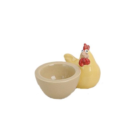 Image of Pasen eierdop met gele kip 9 cm