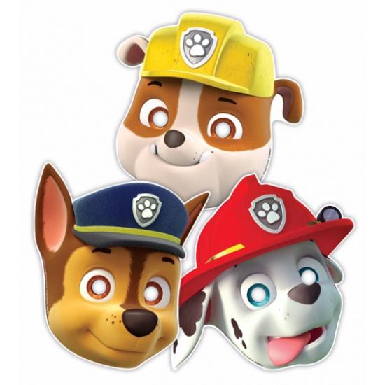 Image of Paw Patrol feest maskers 8 stuks