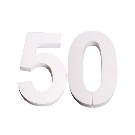Image of Piepschuim 50 cijfer 25 cm