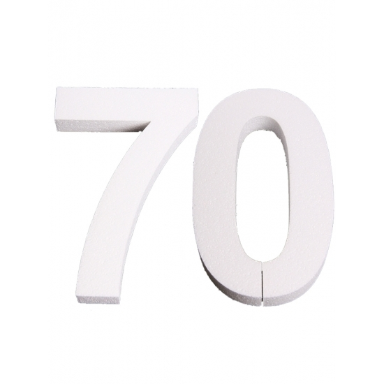 Image of Piepschuim 70 cijfer 25 cm
