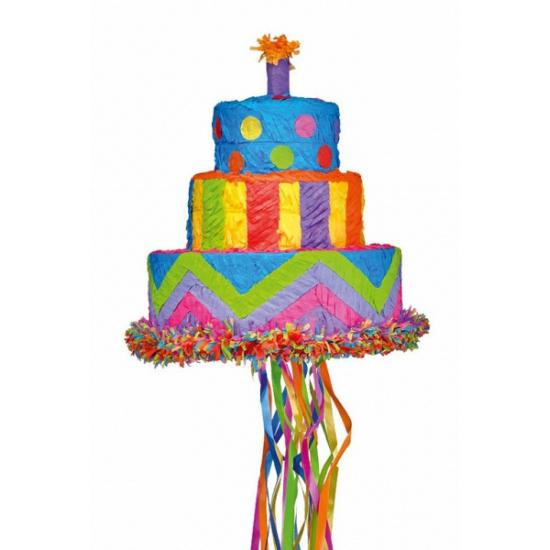 Image of Pinata verjaardagstaart 33 cm