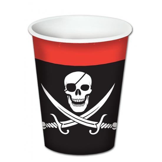 Image of Piraat feest bekertjes 8 stuks