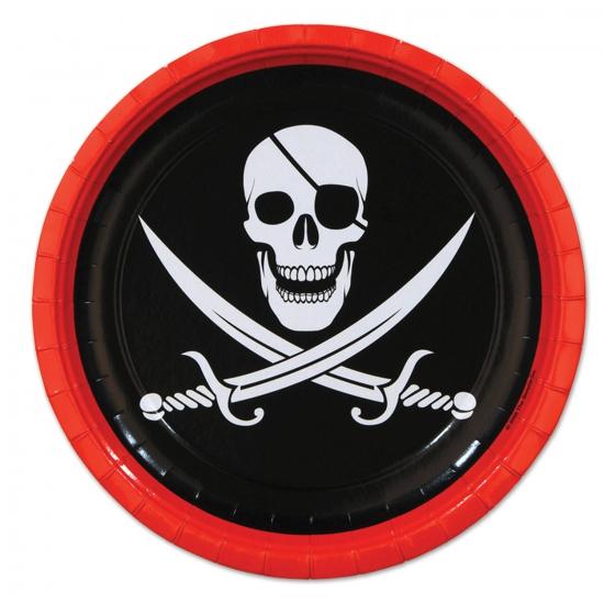 Image of Piraat feest bordjes 8 stuks