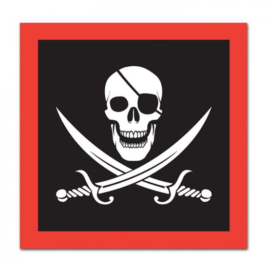 Image of Piraat feest servetten 16 stuks