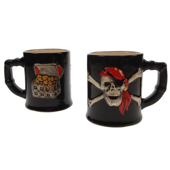 Piraten koffie-thee-melk mok