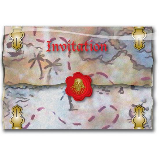 Image of Piratenfeestje uitnodigingskaarten