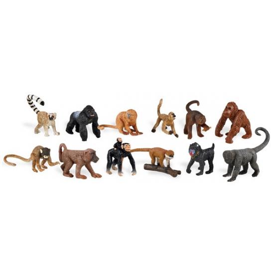 Image of Plastic aapjes figuurtjes in koker