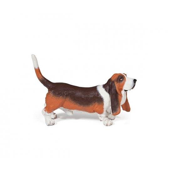 Image of Plastic Basset hond 7,5 cm