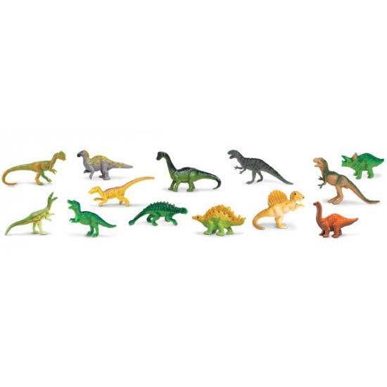 Image of Plastic dinosaurus figuurtjes in koker