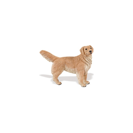 Image of Plastic Golden Retriever speelgoed dier 11 cm