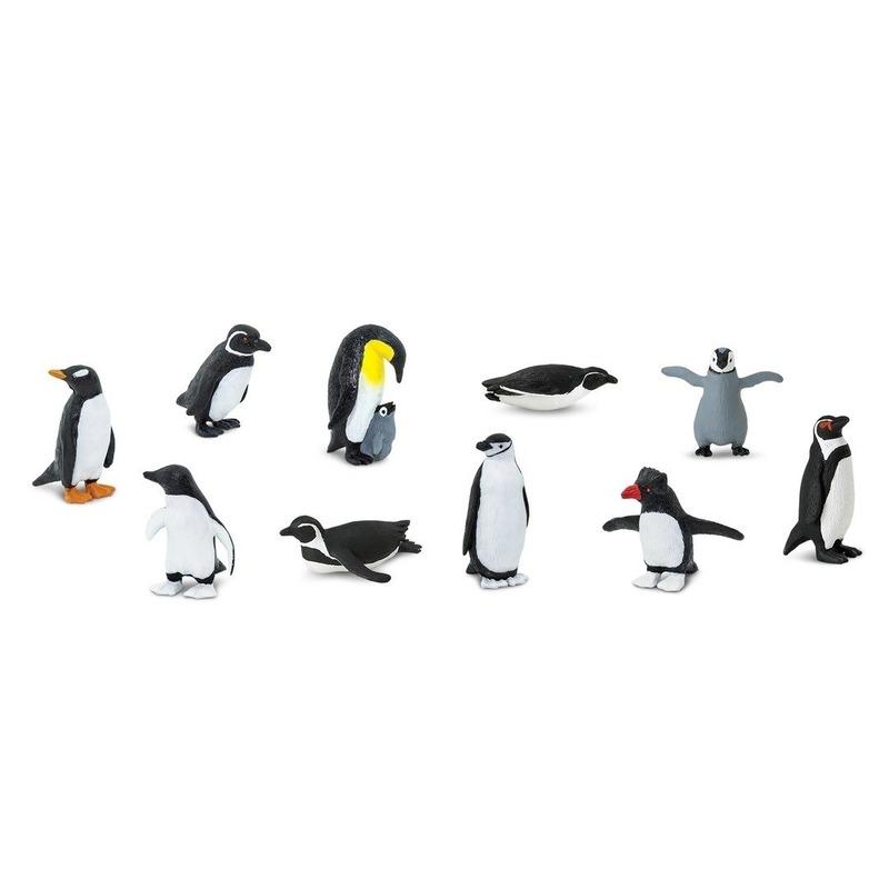 Image of Plastic pinguins figuurtjes in koker