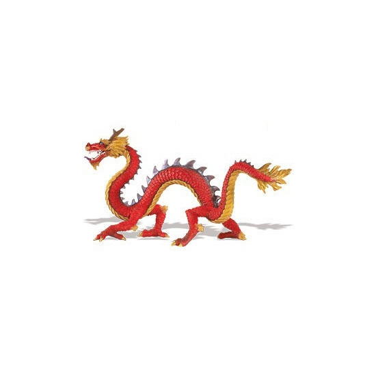 Image of Plastic speelgoed chinese draak 19 cm