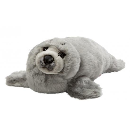 Pluche grijze zeehond 40 cm