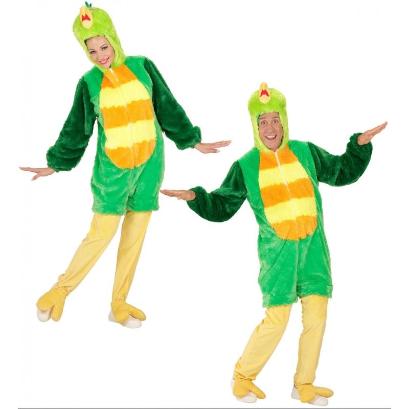 Image of Pluche groene vogel kostuum