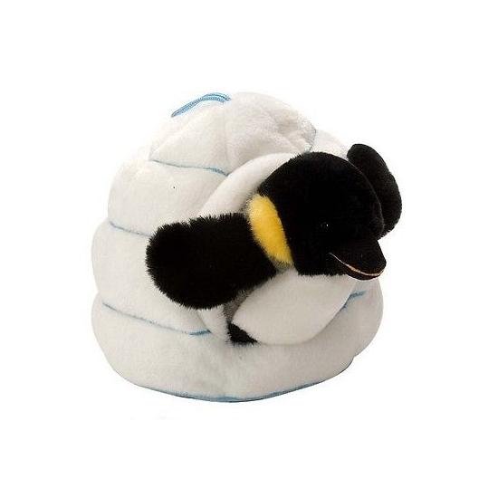 Image of Pluche pinguin in iglo knuffel