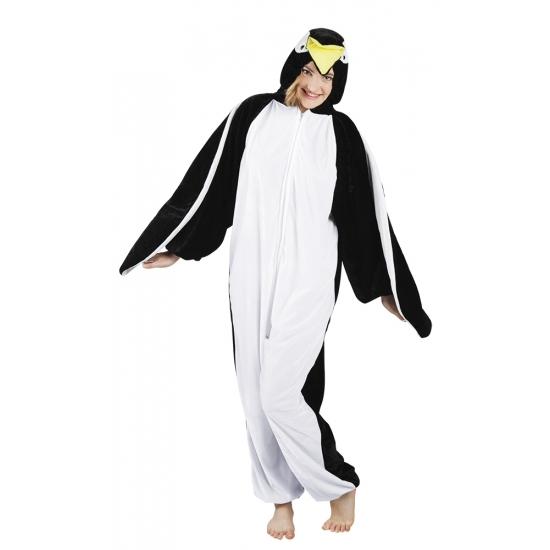 Pluche pinguin onesie dames