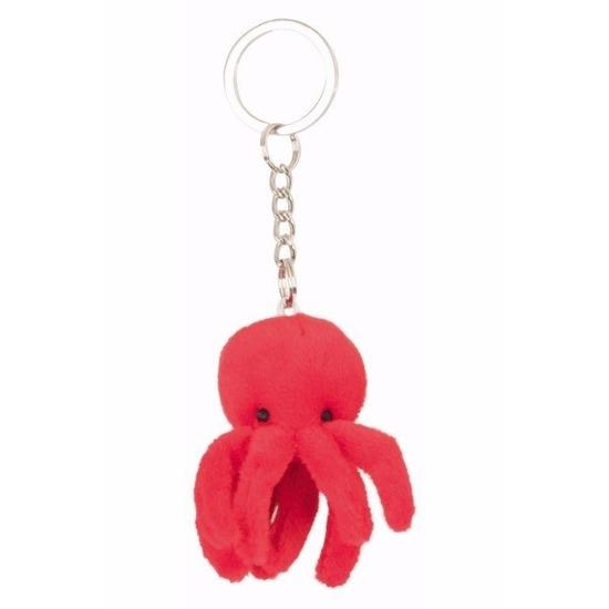 Image of Pluche roze octopus sleutelhangertje 6 cm