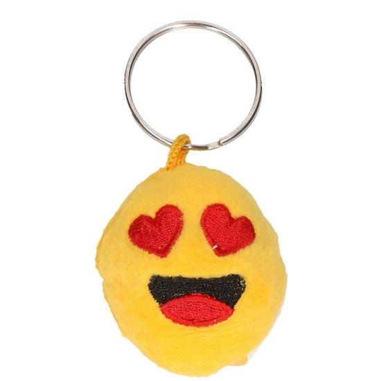 Image of Pluche smiley in love sleutelhanger