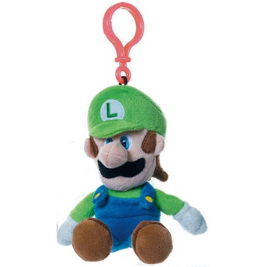 Pluche Super Mario groene Luigi sleutelhanger