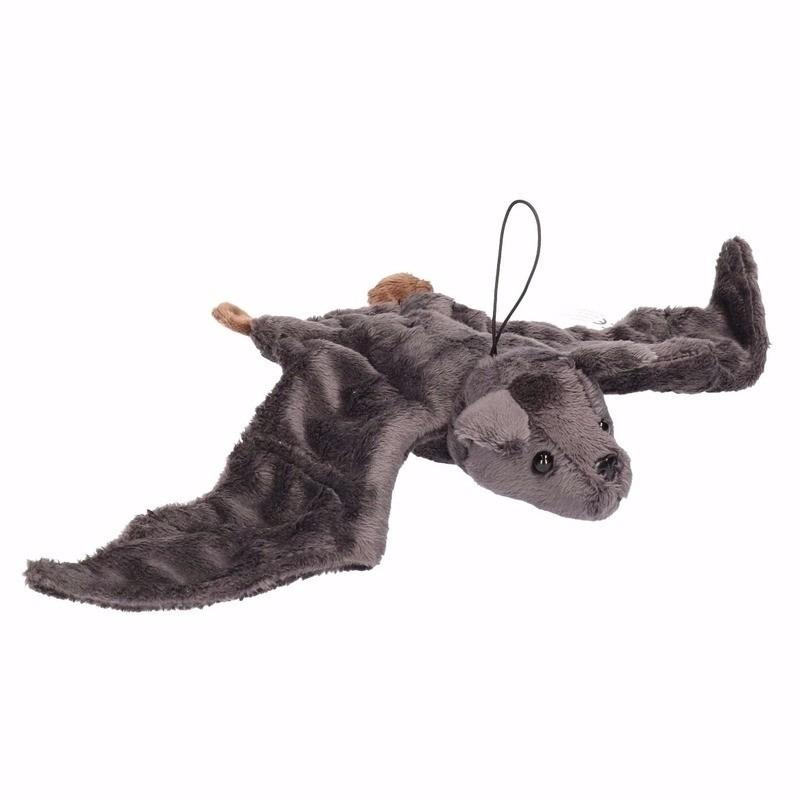 Image of Pluche vliegende vleermuis knuffel grijs 36 cm