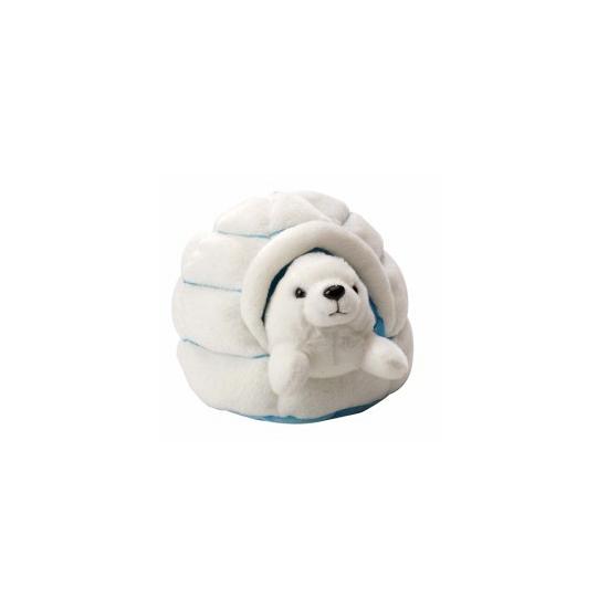 Image of Pluche zeehond in iglo knuffel