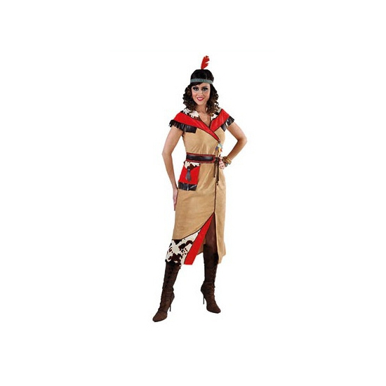 Image of Pocahontas jurk met riem
