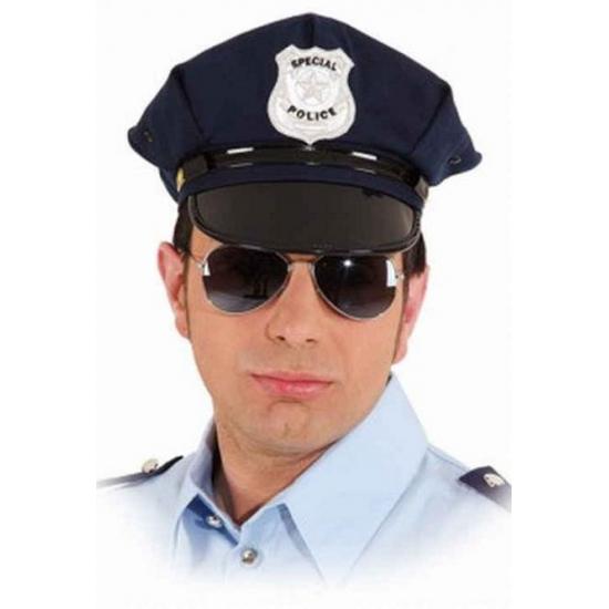 Image of Politie pet blauw voor volwassenen