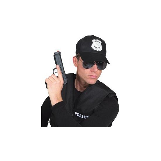 Image of Politie pet zwart voor volwassenen