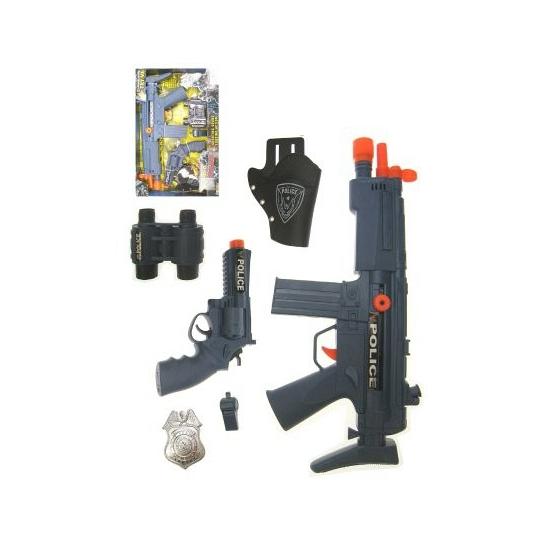 Kinderspeelgoed politie pistolen set in oranje artikelen winkel Oranjeshopper