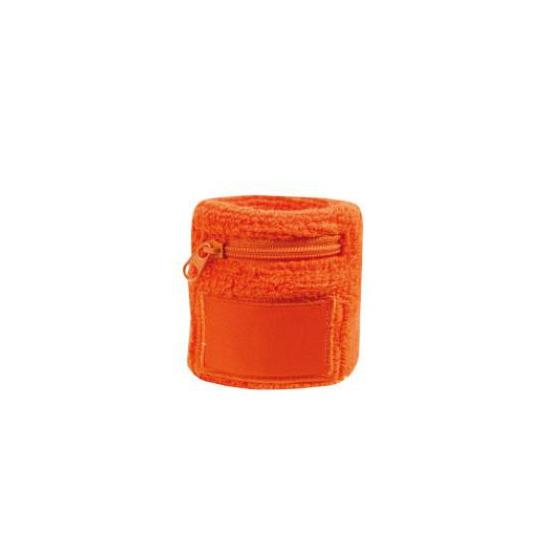 Image of Polsbanden met rits oranje
