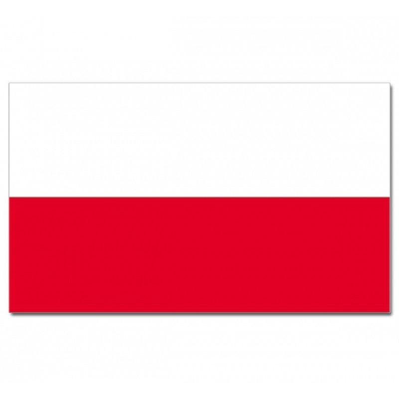 Poolse vlag met het wapen