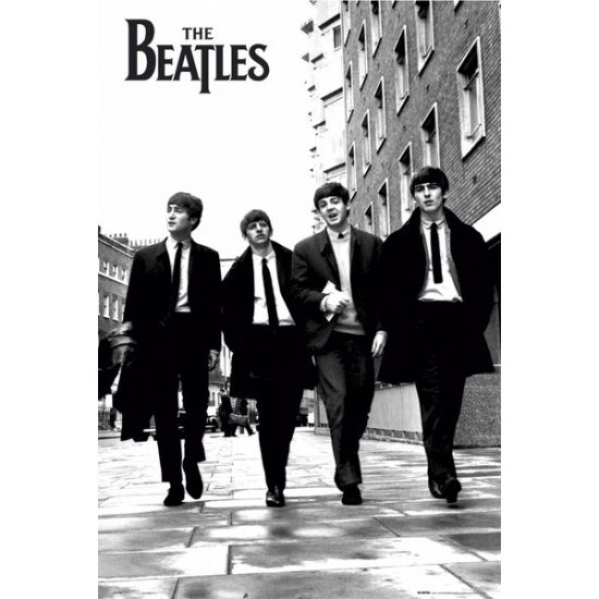 Image of Poster The Beatles zwart/wit 61 x 91,5 cm