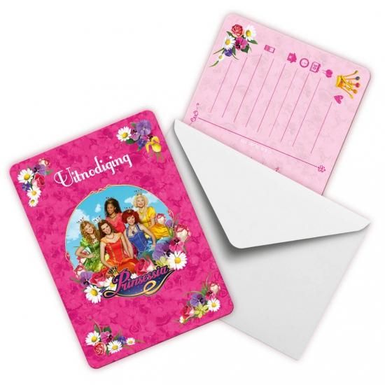 Image of Prinsessia uitnodigingen 6 stuks