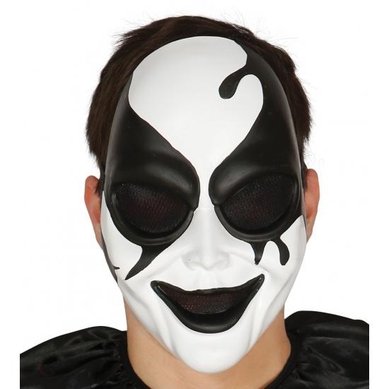 Image of Psycho clown harlekijn masker voor volwassenen
