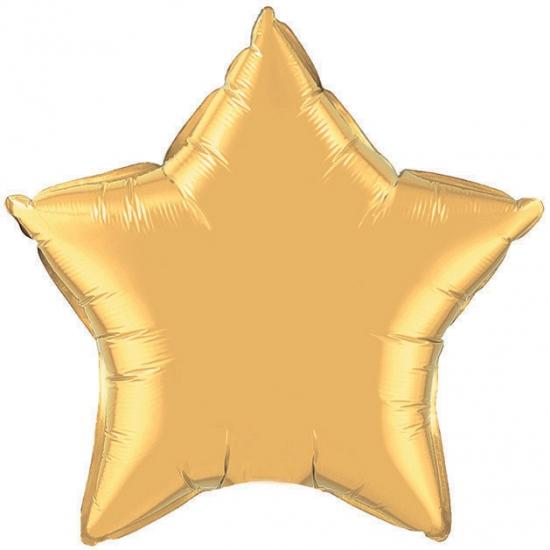 Image of Qualatex gouden ster folie ballon 50 cm