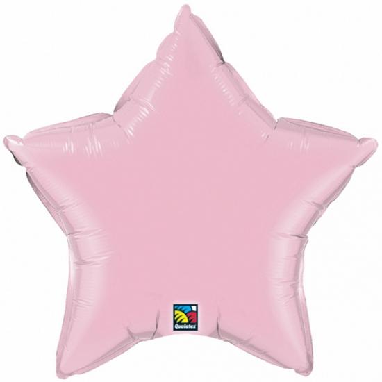 Image of Qualatex licht roze ster folie ballon 50 cm