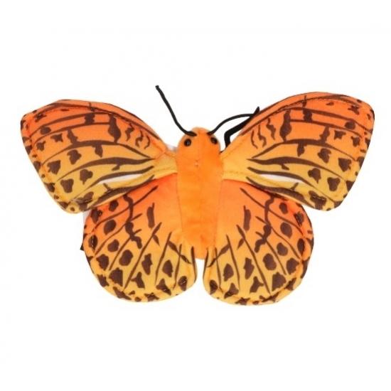 Image of Realistische oranje vlinder knuffel 22 cm